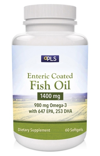 Private label enteric coated fish oil 1400 mg for Enteric coated fish oil